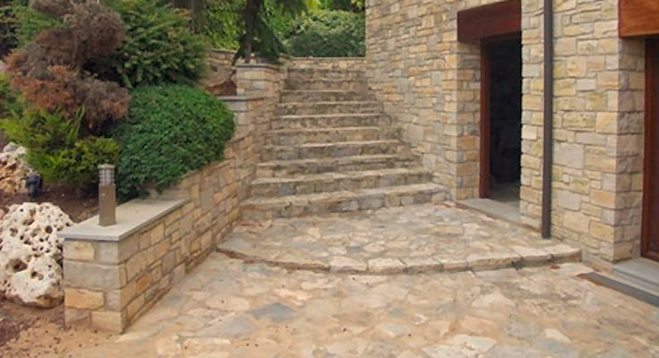 Joan sisquella suelos en piedra natural for Baldosas de piedra para exterior