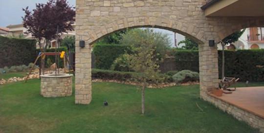 columnas en piedra natural